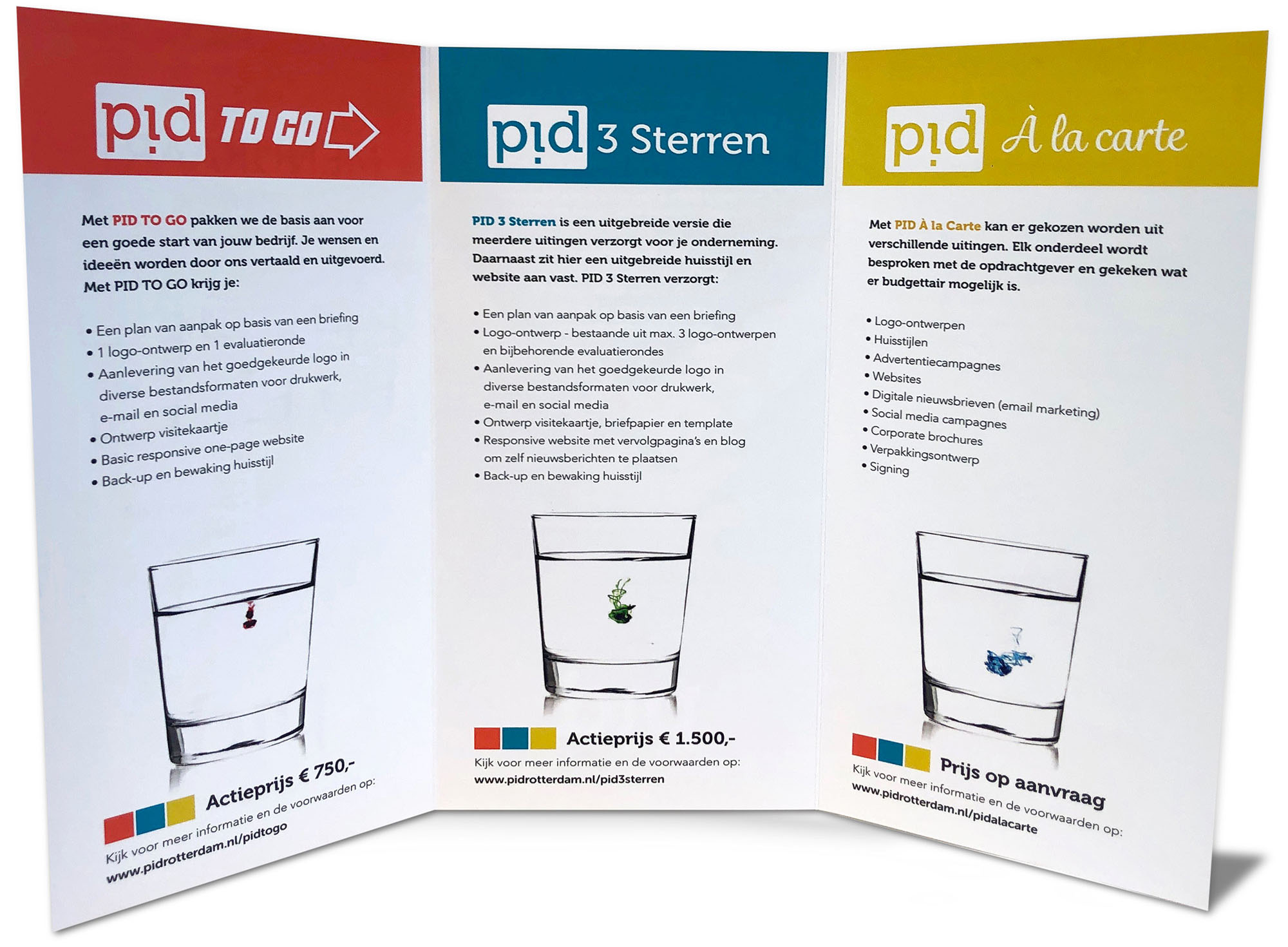 PID Rotterdam Menukaart | Ideaal voor startende ondernemers